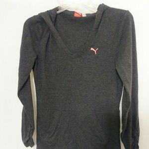 Puma Lightweight Hooded Sweatshirt Size XS